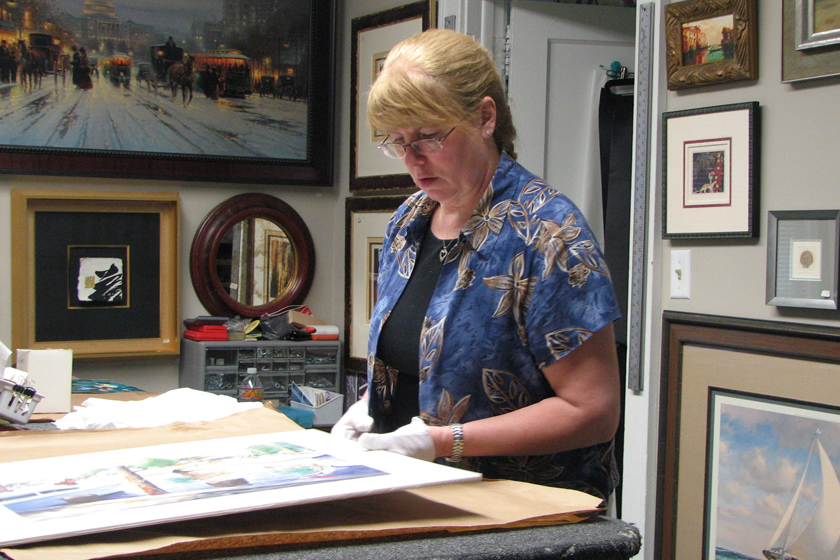 Debbie Johnson framing art.