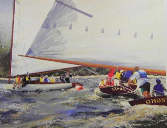 Sailboat painting by Margaret Tourisen Berndt